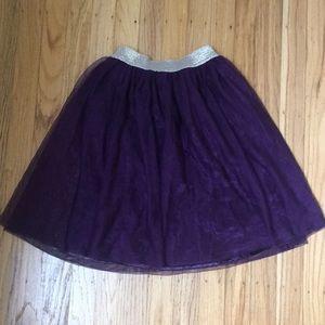 Purple and Gold Tutu Skirt